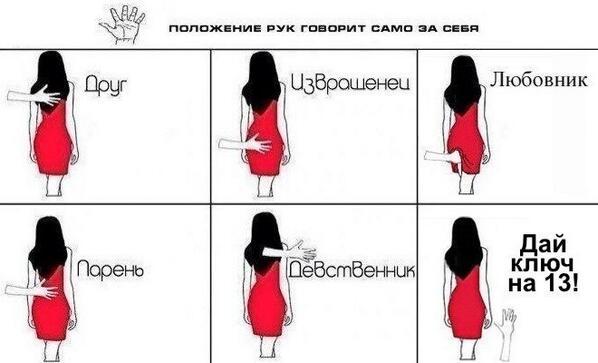 Наложение рук на девушку